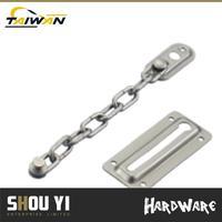 satin Nickel us15 steel sliding door latch types lock strike plate hotel door security latch opener