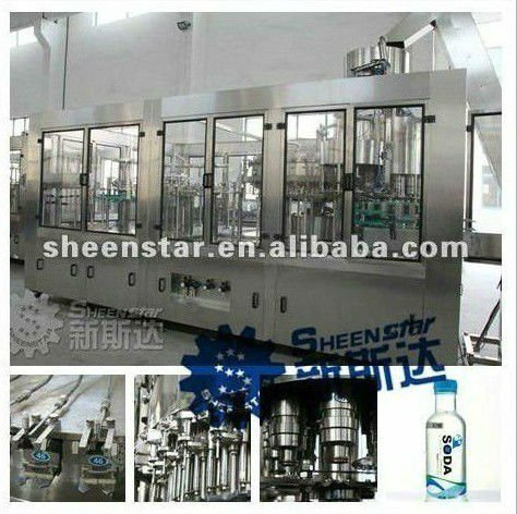 Highly efficient whole set beverage filling and packing lines