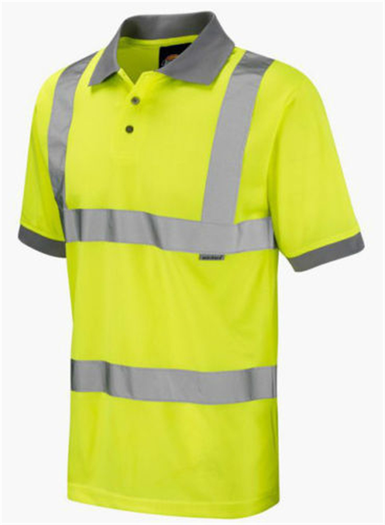 yellow safety reflective polo shirt ,hi vis work shirt,hi-vis safety polo