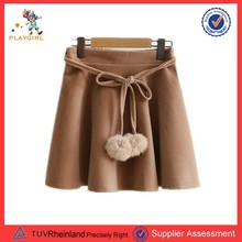 PGWC-3399 Fashion Autumn Winter Belt Korean Girls Short Skirts
