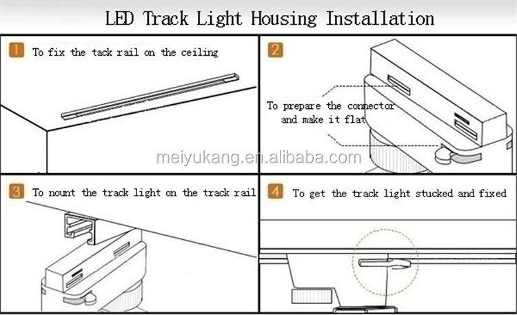 2015 Shop Light Track Light, Black/White Color 20mm Lumen Surface 12W LED COB Track Light Fixture