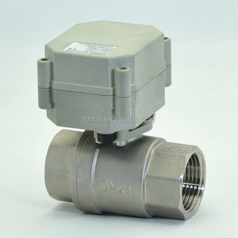 IP67 DN25 4-20mA electric proportioning valve 304SS regulating control ball valve