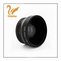Digital camera with 52mm 0.45X UV62mm Wide angle lens for digital camera spare parts