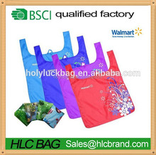 Hot sale cheap reusable foldable shopping bag Walmart