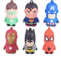 8G 16G 32G 64G usb flash drive pen drive super man iron man spider man captian america super heros