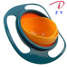 Universal Gyro Bowl Anti Spill Bowl Smooth 360 Degrees Rotation Gyroscopic Bowl For Baby Kids