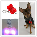 2016 Bone Shaped Plastic Colorful Bling Safety LED Key Light For Pets