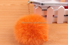 Factory direct 5cm.6cm.7cm.8cm color really rabbit hair ball mobile phone shell diy strange Mongolia accessories