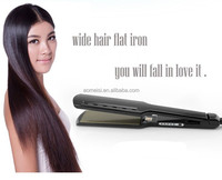 Big size 45*110mm PTC heater LED nano titanium flat iron hair straightener