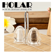 [Holar] 100% Taiwan Made Dining Table Salt and Pepper Shaker Set with Actylic
