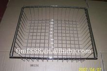 China Supplier Chrome-Plated Silver Wire Mesh Shelf