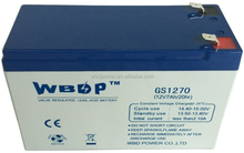 VRLA battery 12V7AH Sealed lead acid battery for UPS system, Alarm system