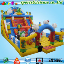 cartoon fun city giant inflatable kids playground equipment for sale