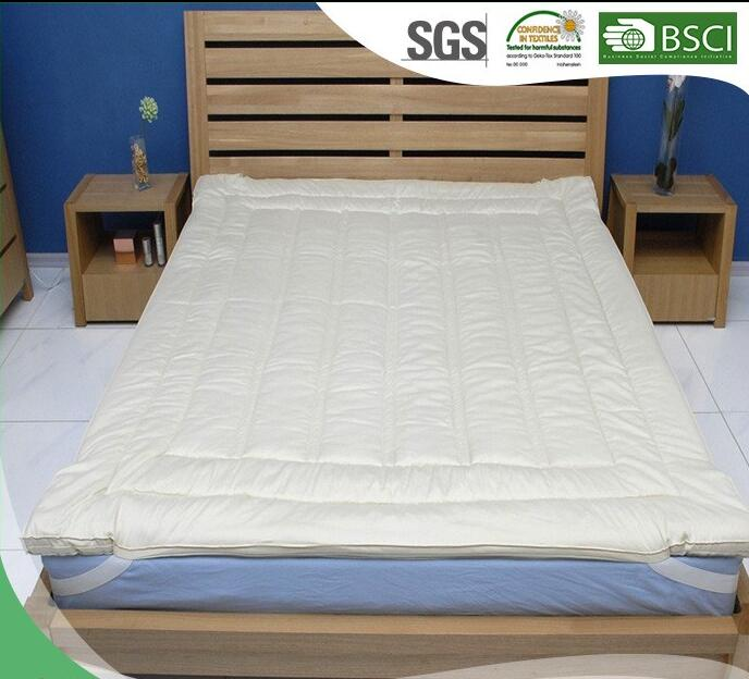 cotton mattress pads with gusset machine quilting Thick mattress