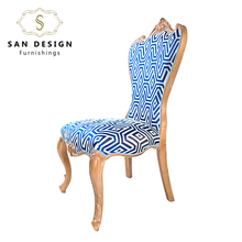 French Louis Style modern Fabric Wooden Dining Room Chair furniture