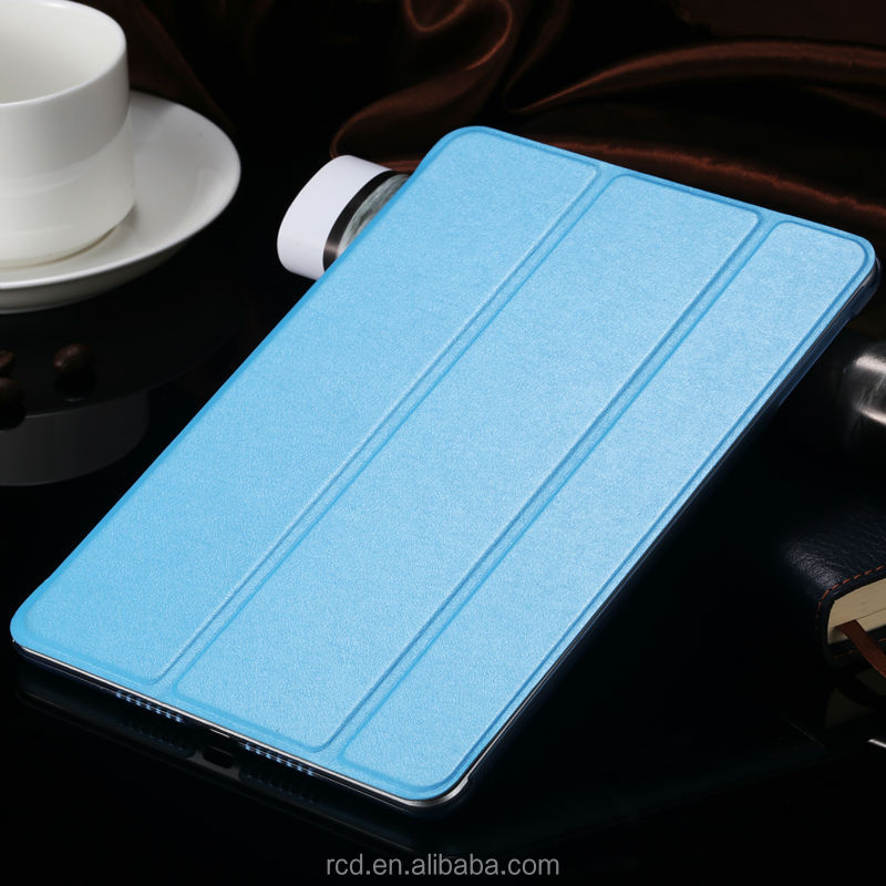 Ultra Thin Case For iPad MIni 1 2 Three Plates Fold Cover For iPad MIni Stand Leather Flip Case For iPad Mini 2 3 RCD03737