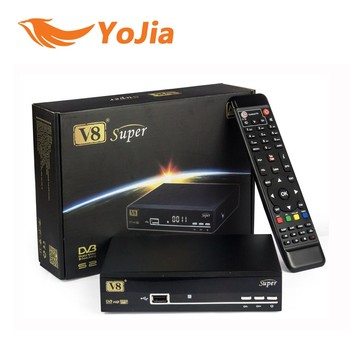 Genuine V8 Super DVB-S2 Satellite TV Receiver Support PowerVu Biss Key Cccamd Newcamd Youtube Youporn USB Wifi Set Top Box