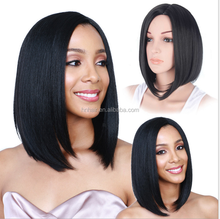 2016 China Doll -Dark Blue Short Synthetic Wig; synthetic hair wigs