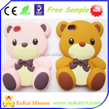 Customized bear design silicone cartoon mobile phone cases