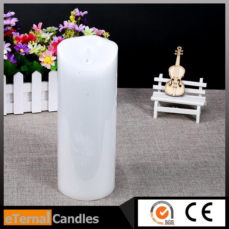 Hot selling ivory wax flameless dancing led candle scented flameless windproof moving magic flame led candle wholesale