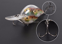 3D eyes vivid color and shape bait ball hard lures in China factory 3 fish baitball lure top[ quality crank lure