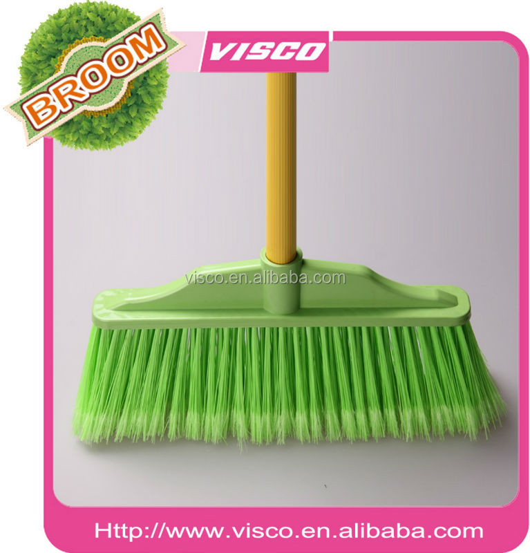 floor brush with wooden broom stick, VT132