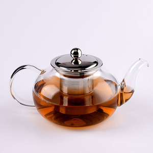 Glass Teapot Kettle with Infuser Set - Stovetop Warmer Tea Pot with Stainless Steel Strainer for Loose Leaf Tea