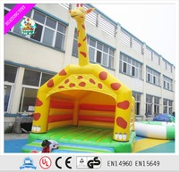 Hot-selling giraffe theme inflatable jumper bounce house /bouncer for kids