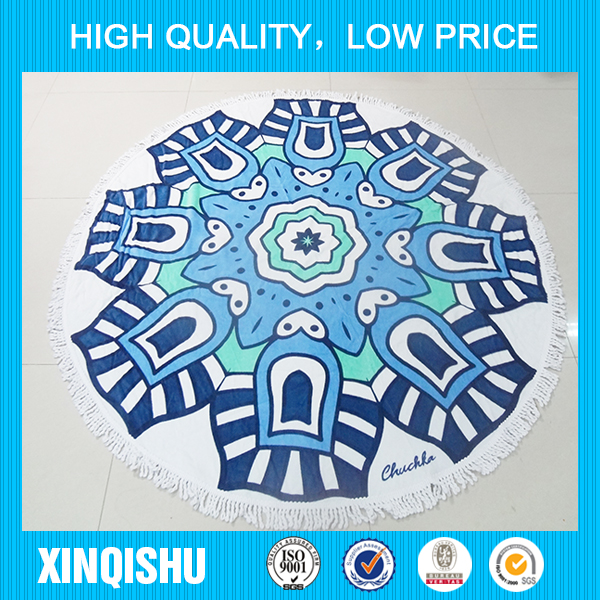 2016 hot selling product round towel beach, elegant and graceful custom beach towel,various styles round towels