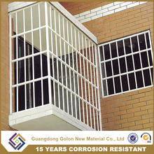 New 2016 steel wrought iron window grill design for safety