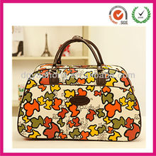 Fashionable faux leather ladies hand carry on travel luggage bags ( donggua guan factory)