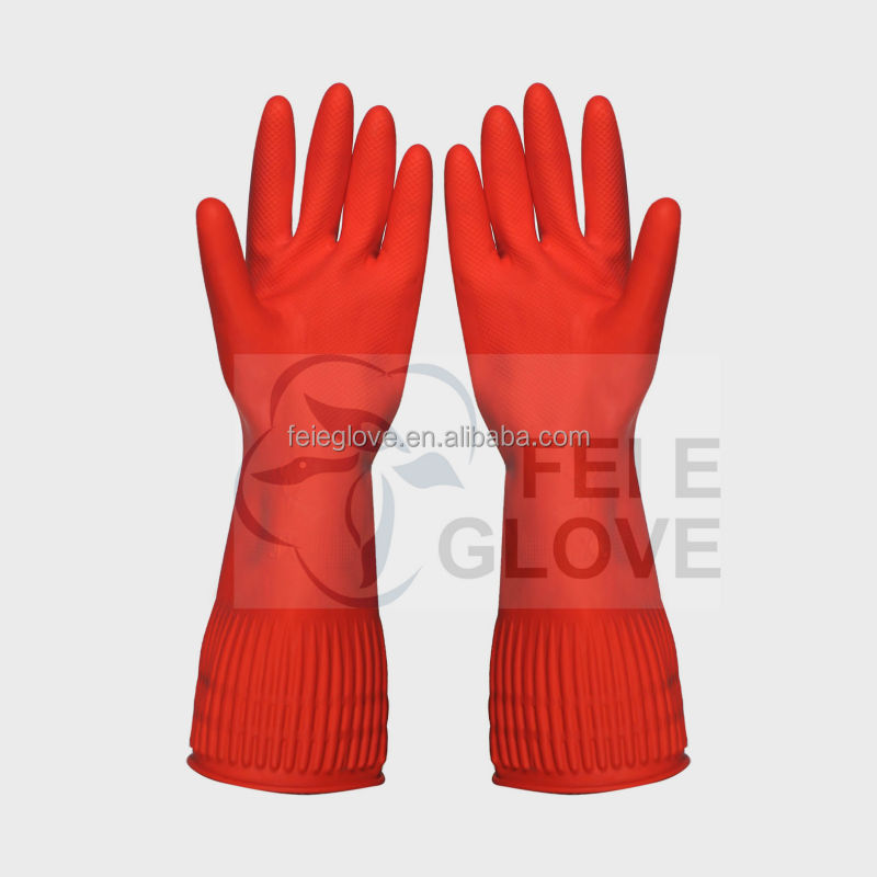 95g L household goods cleaning latex gloves Jiangsu <strong>manufacturer</strong>