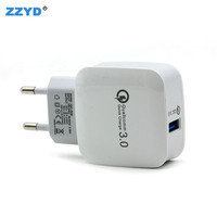 ZZYD New Products 5V 3A Fast Charging Travel Adapter Dual USB QC3.0 Wall Charger For Mobile Phone Chargers Plugs