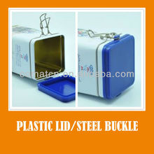 can with steel wire and plastic lid