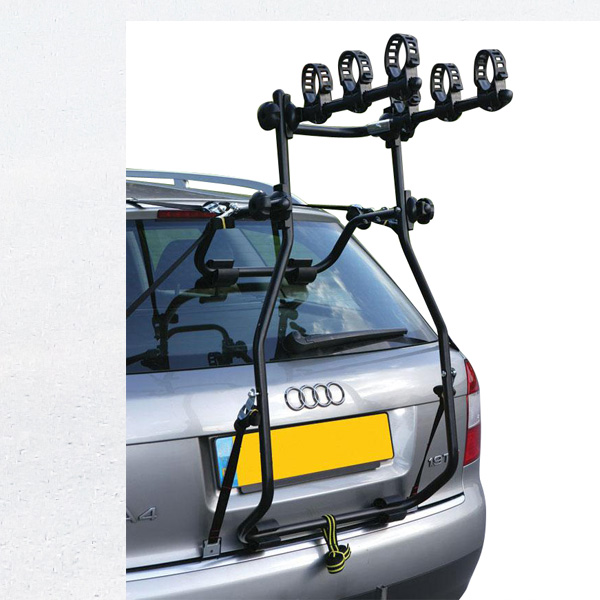 Trunk rear mounted bike rack carrier