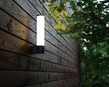 AC85-265v with square aluminium modern Wireless Infrared Motion Sensor Security Solar Garden Outdoor led battery wall light