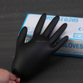 priceless disposable gloves powder free black 100pcs/box nitrile gloves manufacturer