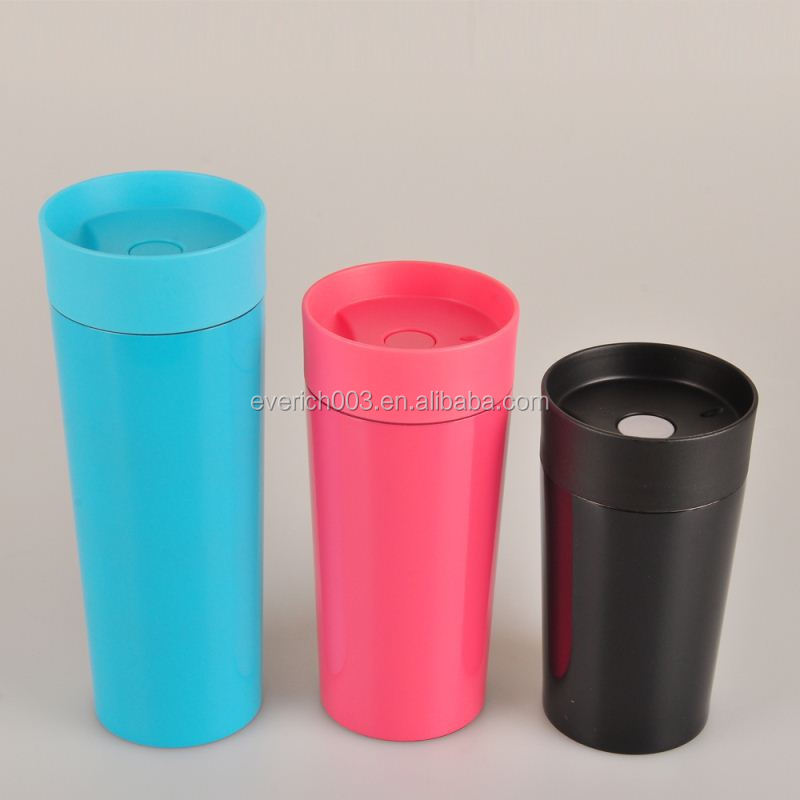Wholesale Spray Paint Thermo Coffee Travel Mug With Push Lid