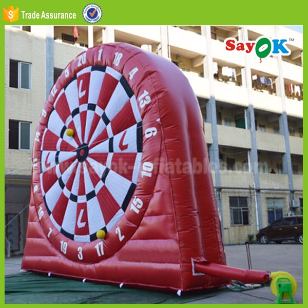 outdoor inflatable football darts game giant inflatable dart board