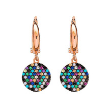 2017 valentines gift rose gold unique disco charm multicolor earring