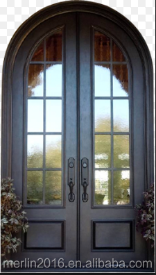 Round top wrought iron door for house