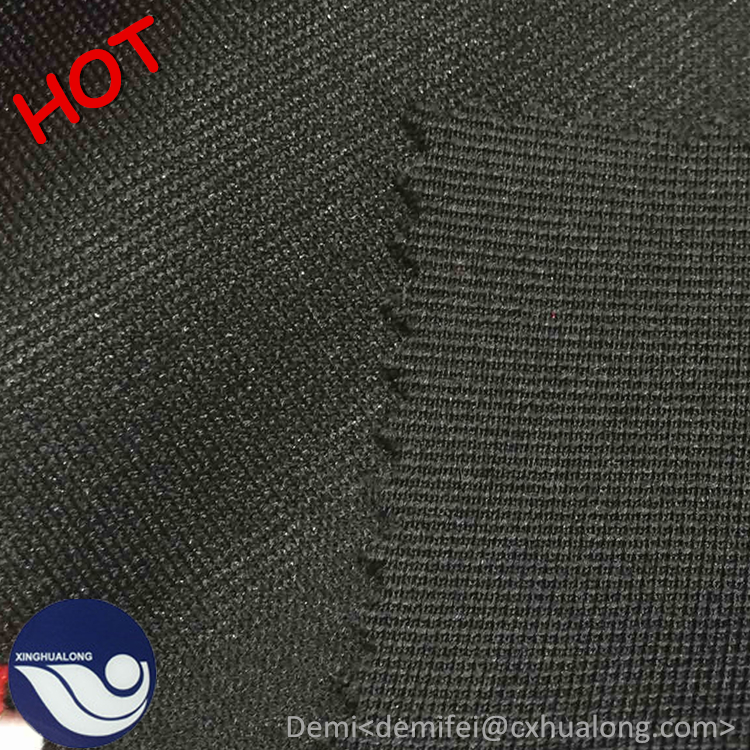 95% polyester 5% spandex knitted rib fabric / tubular ottoman rib knit fabric