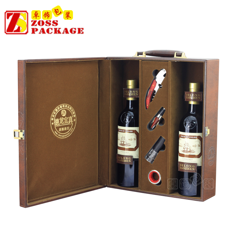 China Customized new packing gift wine box