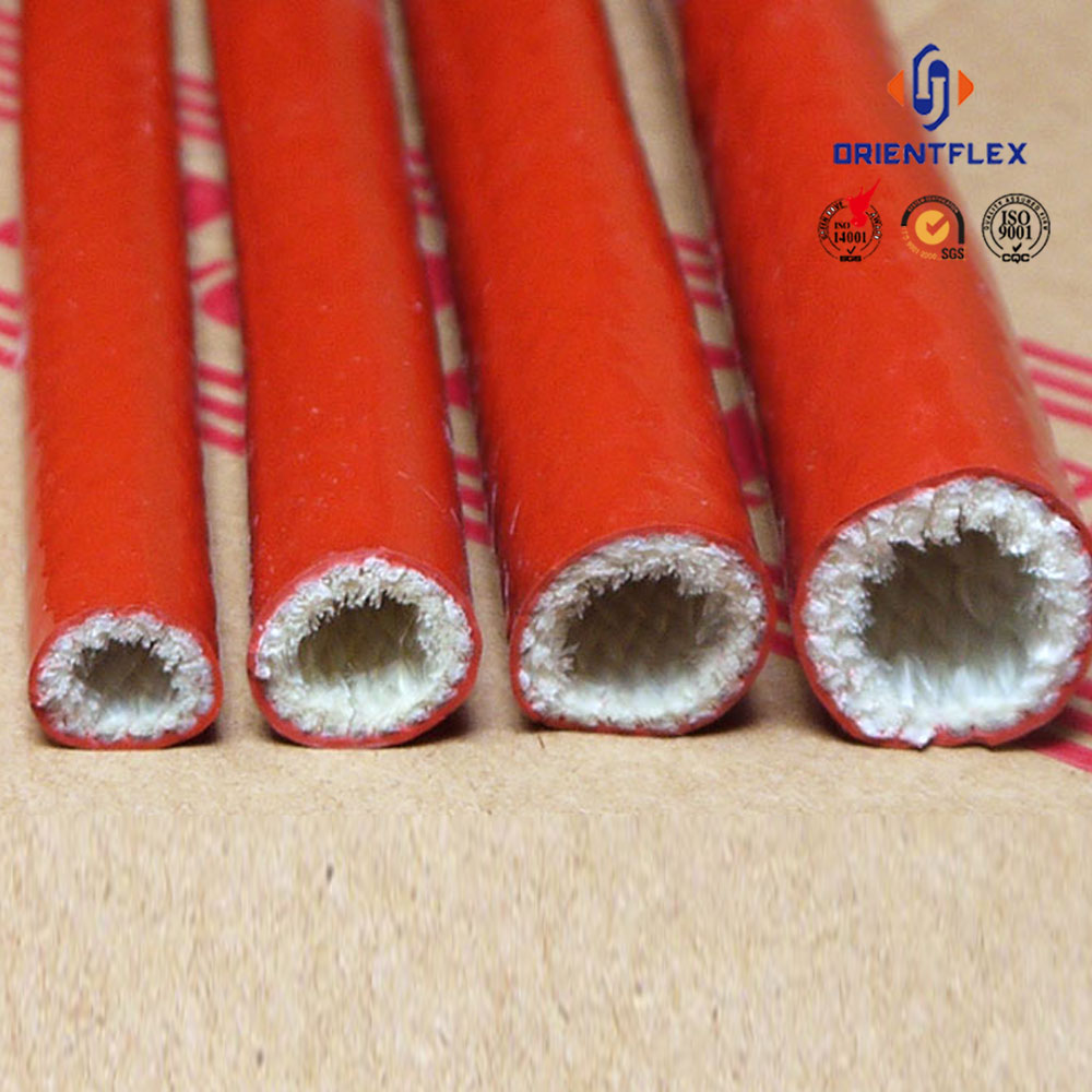 Premium flex tensile strength mpa protect wires and cables silicone rubber coated fiberglass fire sleeve factory wholesale