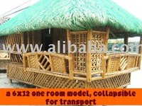 AUTHENTIC 100% PHILIPPINE BAMBOO NIPA HUT, TIKI HUT, BAHAY KUBO