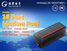 16 Ports wavecom gsm modem pool and Recharge Q2403 GSM gateway BULK SMS MMS