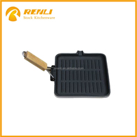 Aluminum Grill Pan w/Foldable Handle In stock
