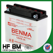 20 hours motorcycle 12V battery, 12N7-4B Motorcycle Battery