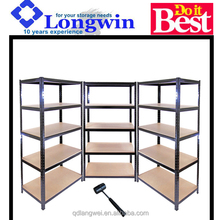 Heavy duty powder coated metal steel shelving for pick and pack in warehouse