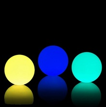 Artistic led glow swimming pool ball led sphere waterproof light floating led light ball for lighting and decoration